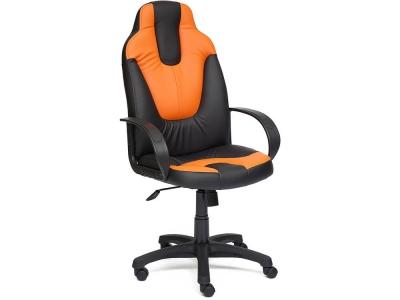 Кресло Neo-1 кож.зам Чёрный + Оранжевый (36-6/14-43)
