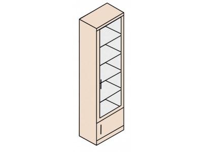 Ника Н23 Шкаф для посуды 600х379х2221 (сборка на обе стороны)