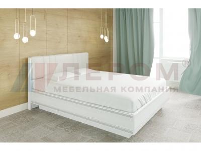 Кровать с мягким изголовьем КР-1014 1800х2000 Снежный Ясень