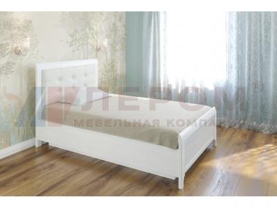 Кровать с мягким изголовьем КР-1032 1400х2000 Снежный Ясень