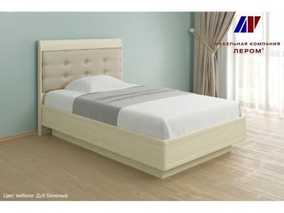 Кровать с мягким изголовьем КР-1051 1200х2000 Дуб Беленый