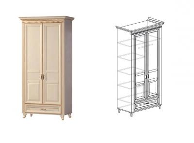 Шкаф для одежды 2-дверный Марлен 471 1023х2216х532 мм