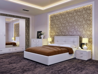 Кровать Адель Экокожа Ideal 302