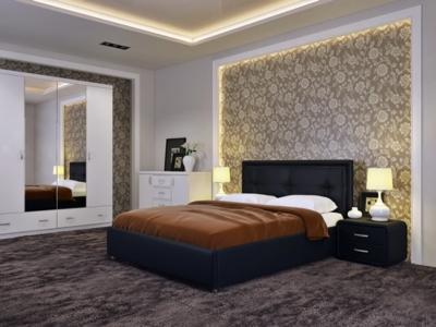 Кровать Адель Экокожа Ideal 318