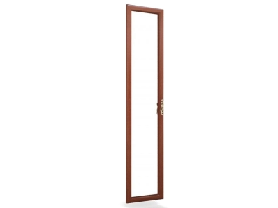 Дверь распашная с зеркалом Александрия ЛД 125.001.000 Орех