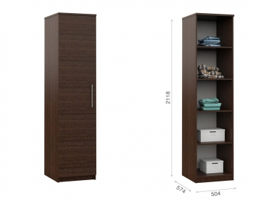 Распашной шкаф Аврора 1дв Венге