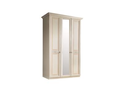 Шкаф 3-х дверный с зеркалом для платья и белья АНШ1/3 Анна