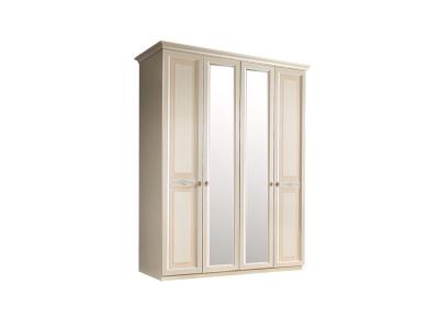 Шкаф 4-х дверный с зеркалом для платья и белья АНШ1/4 Анна