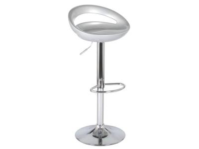 Барный стул Диско WX-2001 пластик серебро