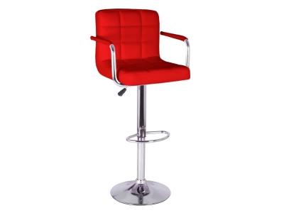 Барный стул Крюгер АМ WX-2318C экокожа красный
