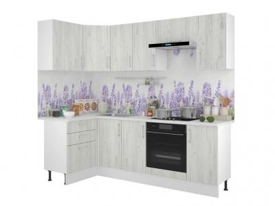 Кухонный гарнитур угловой Европа 1200х2400 Белый Крафт