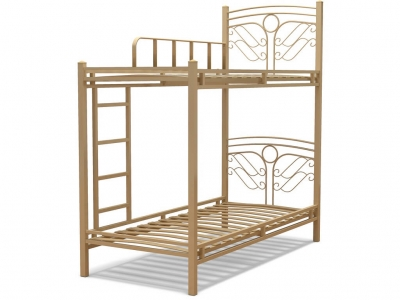 Кровать 90 Фантазия-2 2-х ярусная металлическая Крем