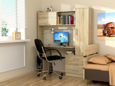 Стол компьютерный Рубин Дуб сонома