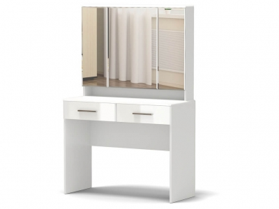 Столик туалетный Офелия Белый - МДФ Топлёное молоко