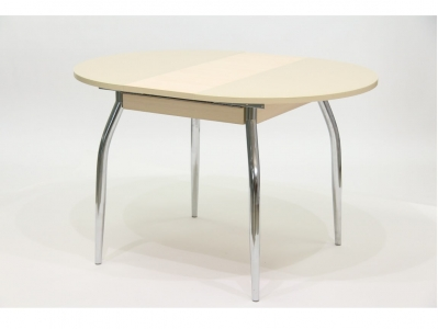 Стол круглый раздвижной со стеклом Гала 3 дуб песочный