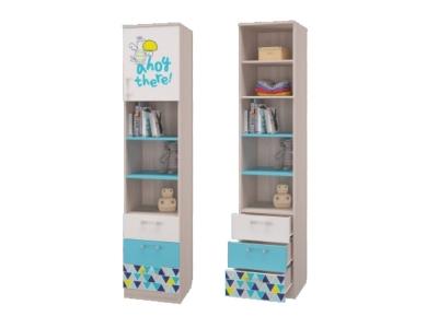 Шкаф для книг с 3-мя ящиками и дверкой Джимми 451х446х2136 мм