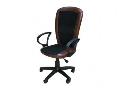 Офисное кресло Селена чёрный-коричневый