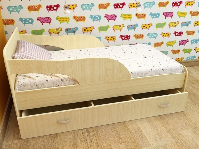 Кровать детская Кроха 2 дуб