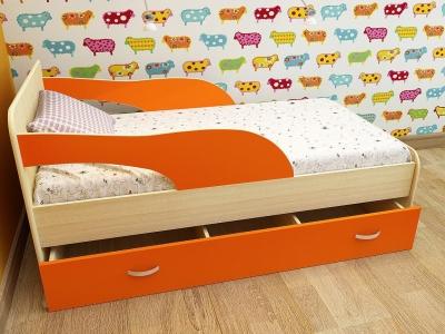 Кровать детская Кроха 2 дуб-оранж