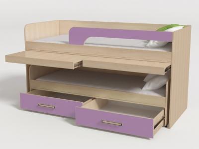 Кровать двухъярусная №11 лиловый