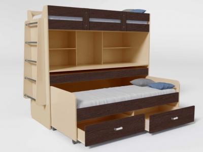Кровать двухъярусная №2 с ящиком венге