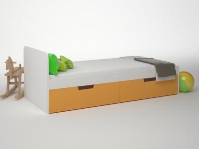 Кровать 2 ящика Брусника Шафран