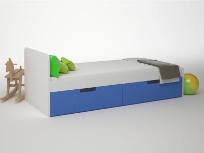 Кровать 2 ящика Брусника Синий