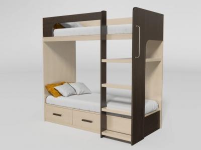Кровать двухъярусная №7 венге