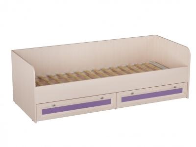 Кровать для детской с бескаркасной кроватной решеткой Кр-41 Бриз Фиолетовый