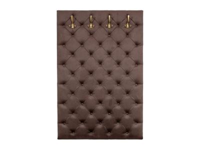 Мягкая панель в прихожую Мишель 950 Велюр Шоколад