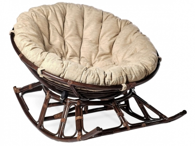Кресло-качалка Папасан 23/01D темно-коричневый