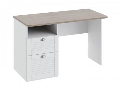 Письменный стол с ящиками Ривьера ТД-241.15.02 Дуб Бонифацио, Белый