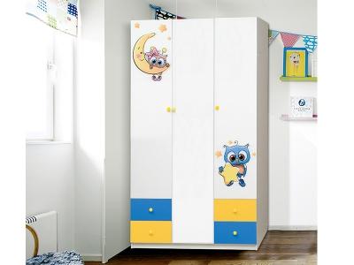 Шкаф 3-х дверный с ящиками Совята 3.2