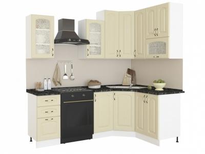 Угловая кухня Равенна Фаби 1,65х1,45 (высокие) ваниль