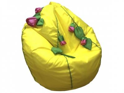 Кресло-мешок Розы нейлон желтый