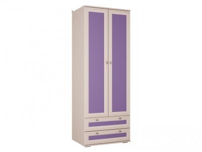 Шкаф для детской с ящиками Бриз Фиолетовый