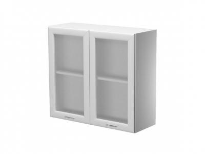 Шкаф навесной 2 дверцы со стеклом ШН.80.7В.2 800х300х720