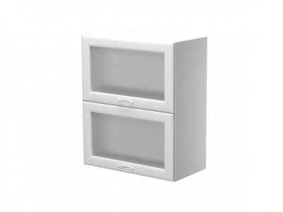 Шкаф навесной с 2 подъёмными дверцами со стеклом ШН.60.3ВЗВГ 600х300х720