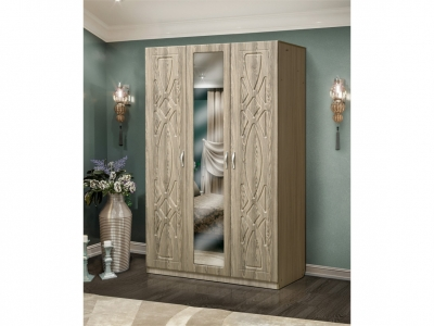 Шкаф 3-х дверный с зеркалом Венеция 7