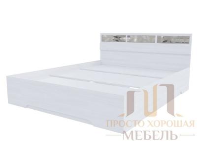 Кровать двойная 1600 Николь 1 со стеклами