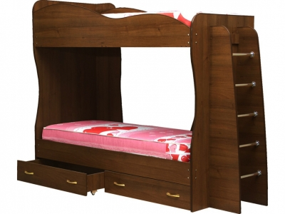 Кровать детская двухъярусная Юниор-1 Итальянский орех
