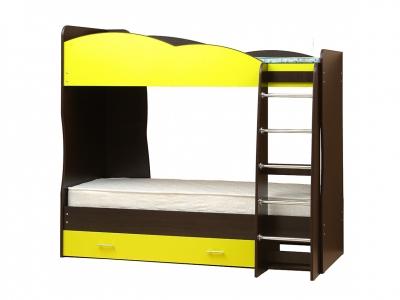 Кровать детская двухъярусная Юниор-2.1 Желтый